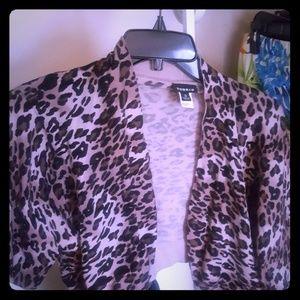 Torrid Leopard Print  crop cardigan